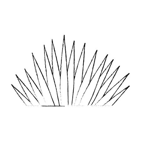 tropisch palmblad pictogram vector illustratie ontwerp Stock Illustratie