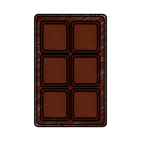 chocolate bar sweet block icon vector illustration 向量圖像