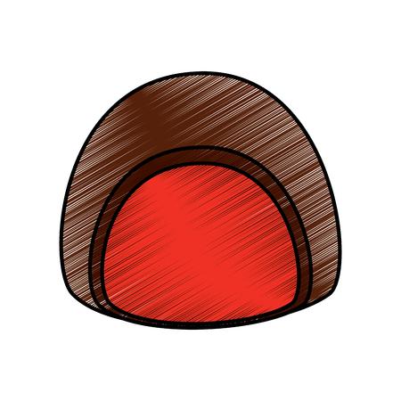 chocolate candy sweet dessert icon vector illustration
