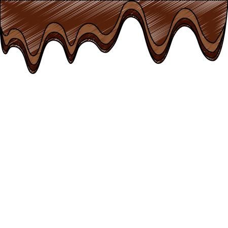 溶かしたチョコレート砂糖ココア画像ベクトルイラスト  イラスト・ベクター素材