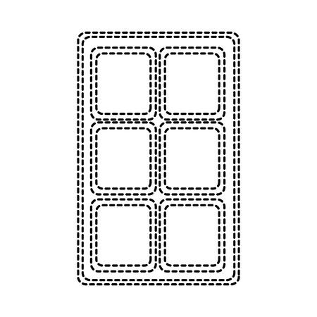 Chocolate bar sweet block icon vector illustration