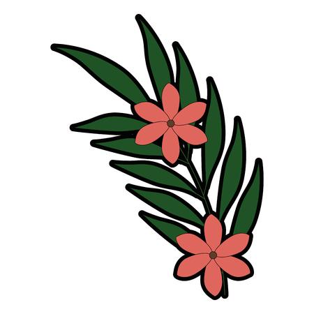 エキゾチックな熱帯の花ベクトル イラスト デザイン  イラスト・ベクター素材