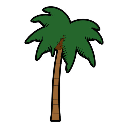 Tropical palm tree icon vector illustration design Ilustração