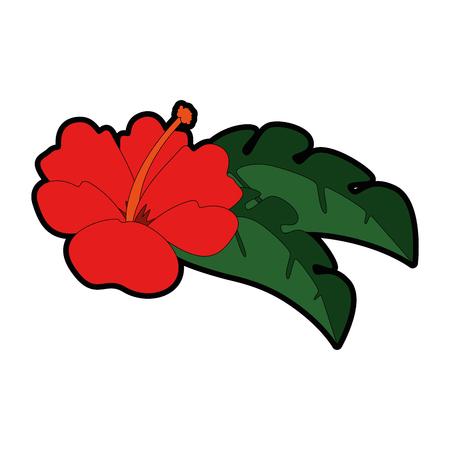 이국적인 열대 꽃 벡터 일러스트 디자인 일러스트