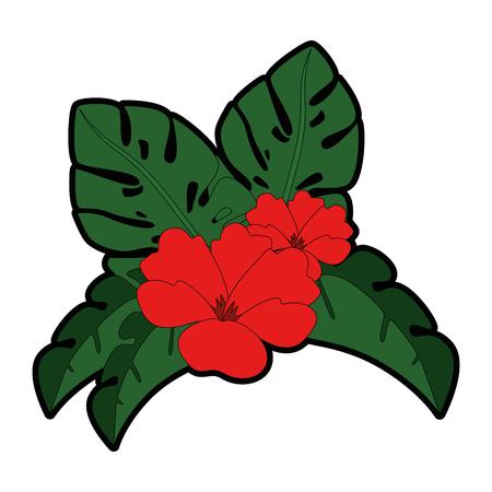 エキゾチックで熱帯の花ベクトルイラストデザイン 写真素材 - 92283320
