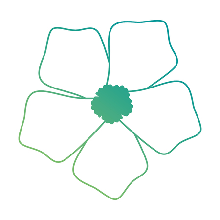 het exotische en tropische ontwerp van de bloem vectorillustratie