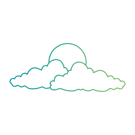 natural cloud with sun vector illustration design