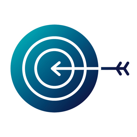 business target arrow strategy symbol vector illustration  blue image