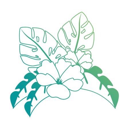 이국적인 열 대 꽃 벡터 일러스트 디자인 스톡 콘텐츠 - 92284184