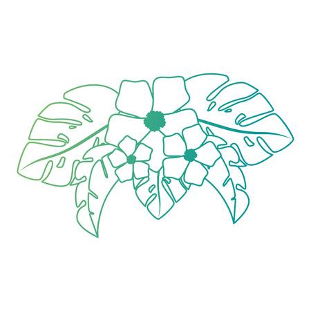 エキゾチックで熱帯の花ベクトルイラストデザイン 写真素材 - 92283932