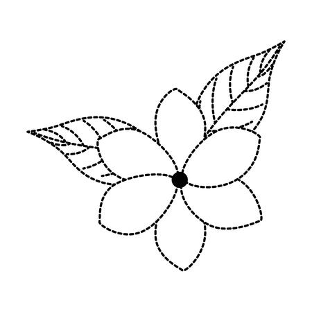 이국적인 열 대 꽃 벡터 일러스트 디자인 스톡 콘텐츠 - 92284219