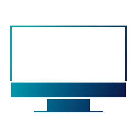 monitor computer device work equipment vector illustration  blue image