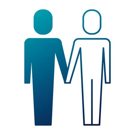 portrait business people teamwork partnership vector illustration  Illustration