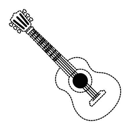 ギター楽器分離アイコンベクトルイラストデザイン  イラスト・ベクター素材