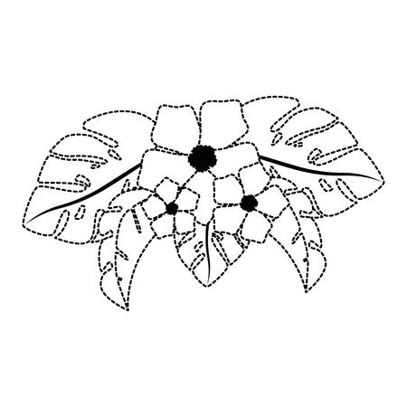 エキゾチックで熱帯の花ベクトルイラストデザイン 写真素材 - 92284399