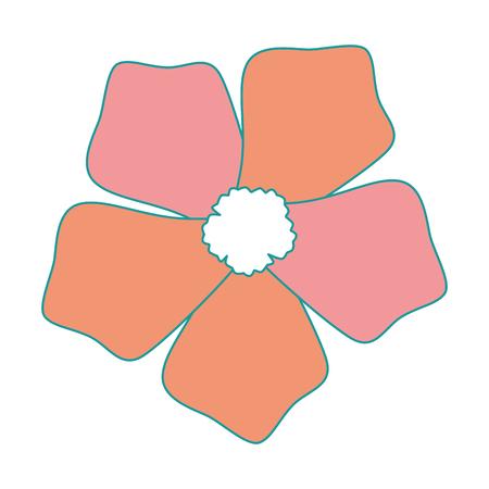 이국적인 열 대 꽃 벡터 일러스트 디자인 스톡 콘텐츠 - 92284415