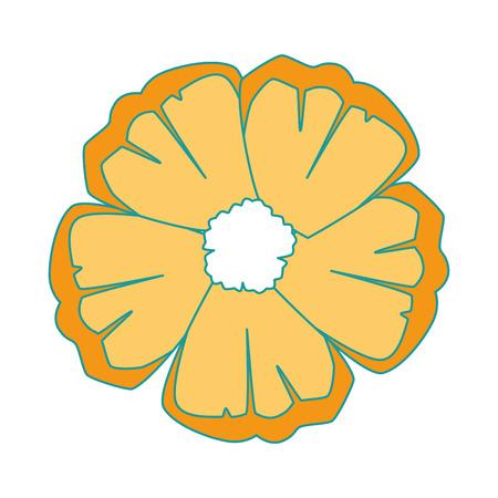 이국적인 열 대 꽃 벡터 일러스트 디자인 스톡 콘텐츠 - 92284419