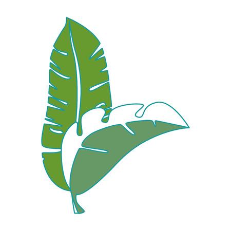 Een tropisch vector de illustratieontwerp van het palmbladenpictogram