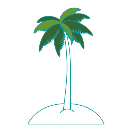 Isolated tropical palm tree icon vector illustration design