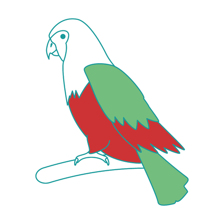 cockatoo exotic bird icon vector illustration design