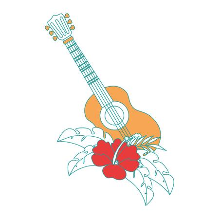 꽃 벡터 일러스트 디자인과 기타 악기 스톡 콘텐츠 - 92284434