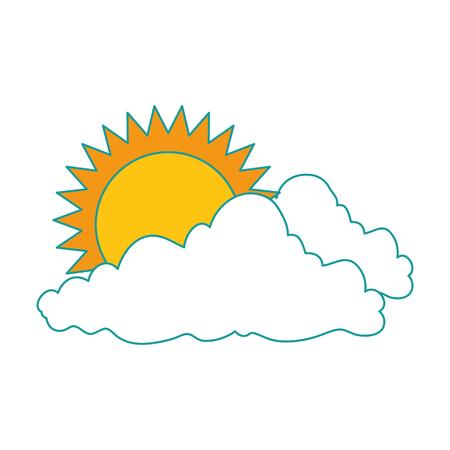 太陽ベクトルイラストデザインの自然雲