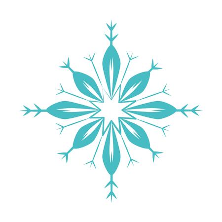schattig sneeuwvlok geïsoleerd pictogram vector illustratie ontwerp