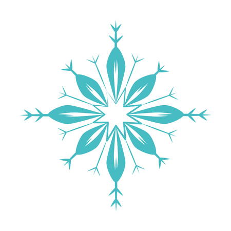 cute snowflake isolated icon vector illustration design