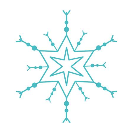 Süße Schneeflocke isoliert Symbol Vektor-Illustration , Design , Standard-Bild - 92284864