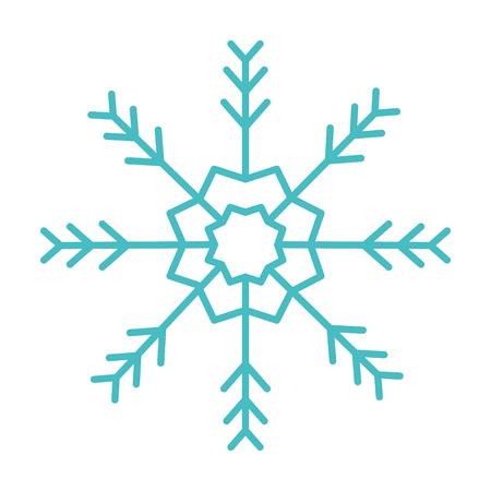 cute snowflake isolated icon vector illustration design
