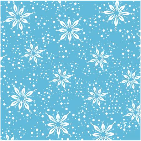 cute snowflake pattern background vector illustration design