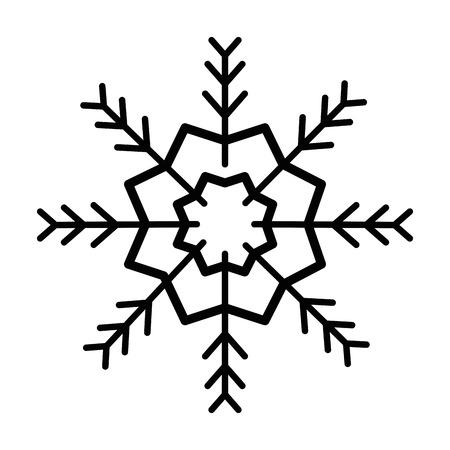 Snowflake isolated icon illustration design. Illustration