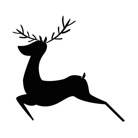 Reindeer animal isolated icon illustration design.
