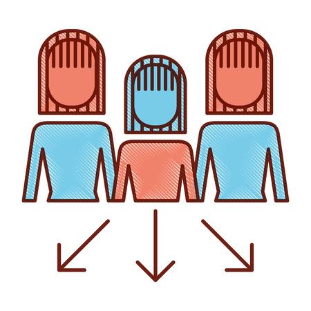 businesswoman options arrows direction choise vector illustration Banque d'images - 92298412