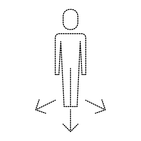 businessman options arrows direction choise vector illustration