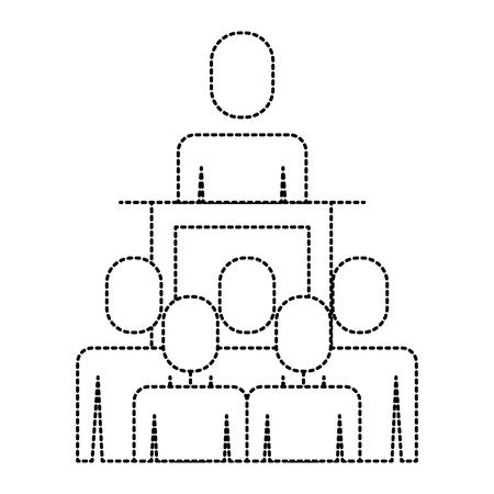 meeting business people boss podium presentation vector illustration pictogram Illusztráció