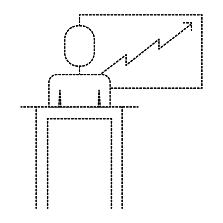 A businessman at the podium vector illustration