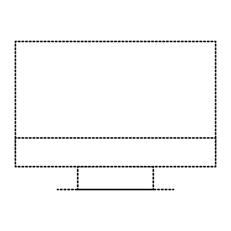 Computer monitor icon illustration design.