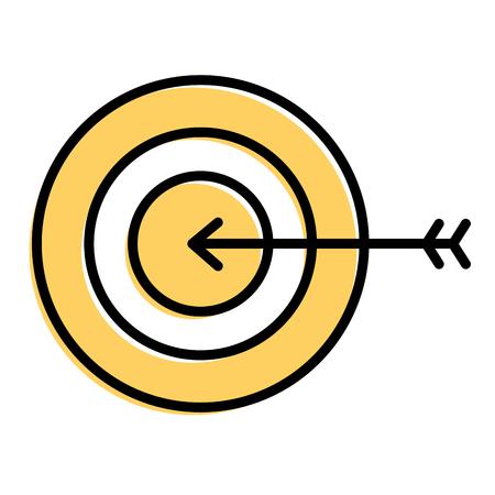 Zakelijke doel pijl strategie symbool vector illustratie