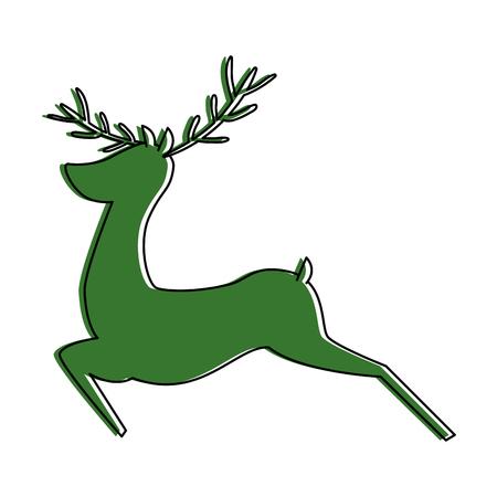 reindeer animal isolated icon vector illustration design Çizim
