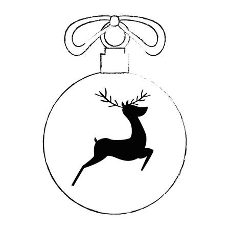 christmas ball hanging icon vector illustration design Stock Vector - 92296025
