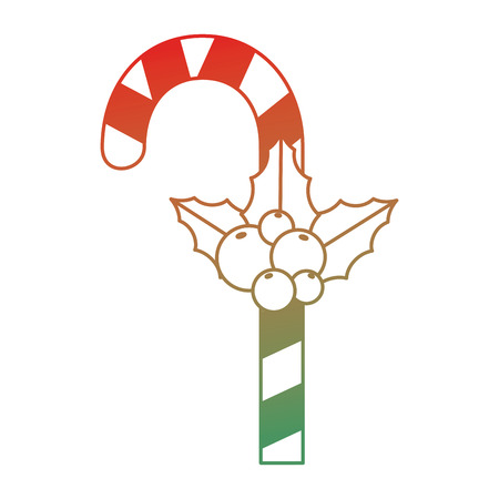 크리스마스 지팡이 장식 아이콘 그림 디자인. 일러스트