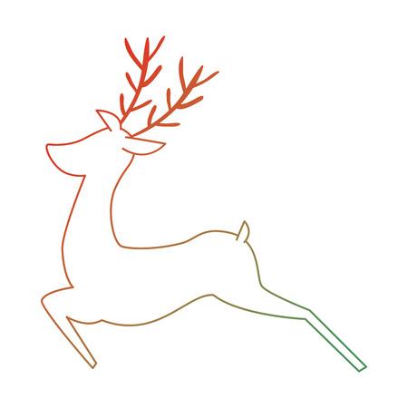 Reindeer animal isolated icon illustration design.
