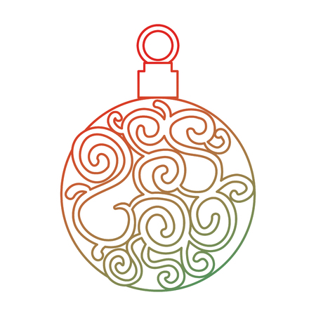 Christmas ball hanging icon illustration design. Stock Vector - 92336946