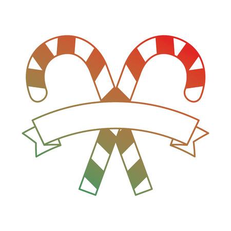 Christmas canes decorative icon vector illustration design. Stock Vector - 92295143