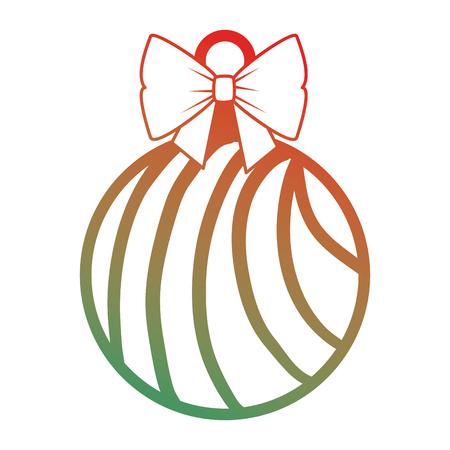 christmas ball hanging icon vector illustration design Stock Vector - 92296055