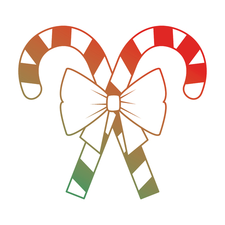 Christmas canes decorative icon vector illustration design. Ilustração