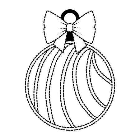 Christmas ball hanging icon vector illustration design. Stock Vector - 92296713