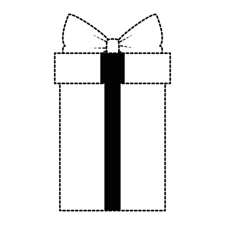 Gift box present icon illustration design.