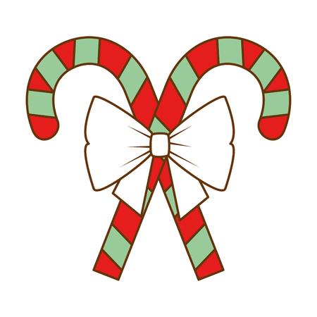 Christmas canes decorative icon vector illustration design. Stock Vector - 92297123